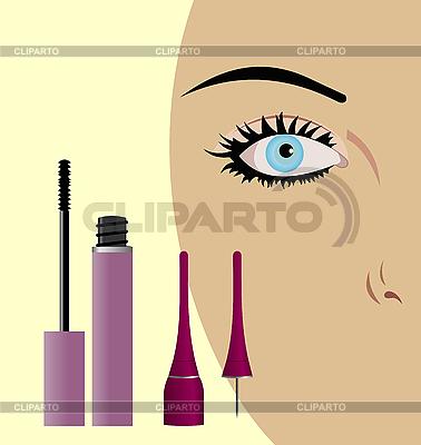 Weiblicher Auge mit Mascara | Stock Vektorgrafik |ID 3083999