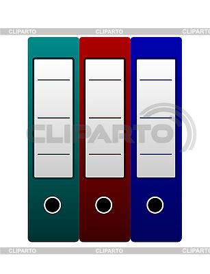 Trzy foldery biurowe | Klipart wektorowy |ID 3084015