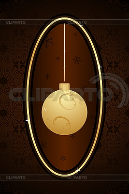 Kartka świąteczna z piłką | Klipart wektorowy |ID 3085003