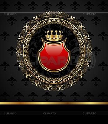 Goldener Rahmen mit heraldischen Elementen | Stock Vektorgrafik |ID 3085785