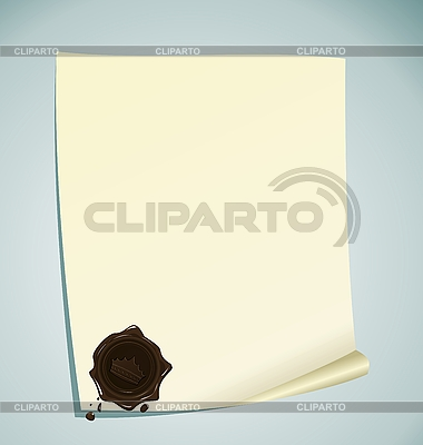 Papier mit braunem Wachs-Siegel | Stock Vektorgrafik |ID 3086359