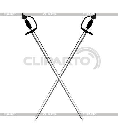 Dwa srebrne miecze | Klipart wektorowy |ID 3086722