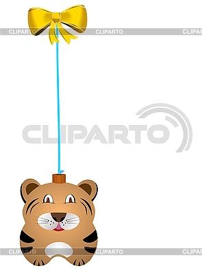 Новогодняя елочная игрушка тигр | Векторный клипарт |ID 3086746