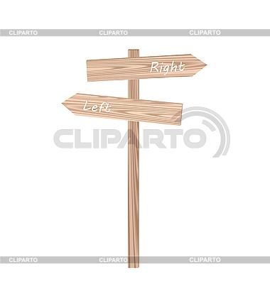 Znak drogowy z drewna | Klipart wektorowy |ID 3086979
