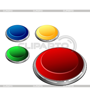 Set of multi-coloured buttons - | 벡터 클립 아트 |ID 3244041