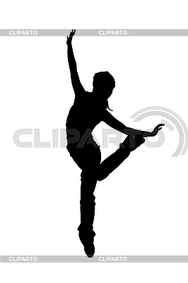 Silhouette einer Tänzerin | Illustration mit hoher Auflösung |ID 3104921