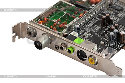 Komputer pokładowy wewnętrzny tuner TV | Foto stockowe wysokiej rozdzielczości |ID 3089383