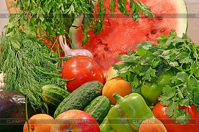 Buntes frischse Gemüse mit Obst | Foto mit hoher Auflösung |ID 3094593