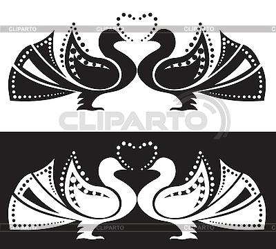 Para gołębi | Klipart wektorowy |ID 3090814