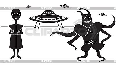 Инопланетяне | Векторный клипарт |ID 3139329