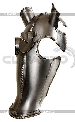 Mittelalterliche Panzerung für den Kopf eines Pferdes | Foto mit hoher Auflösung |ID 3093483