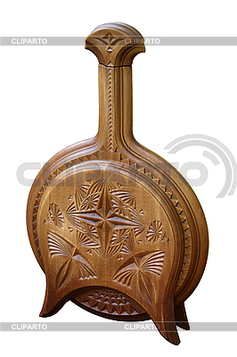 Бутылка деревянная