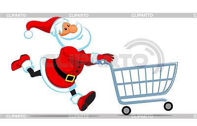 Weihnachtsmann mit leerem Warenkorb | Stock Vektorgrafik |ID 3098201