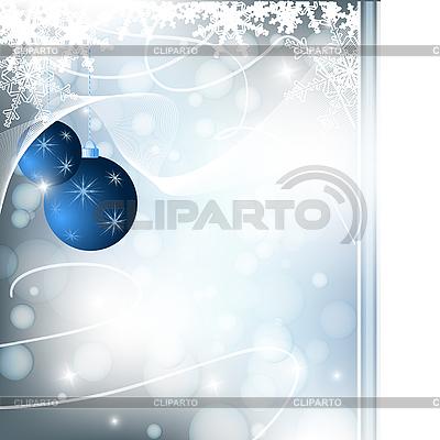 Weihnachtshintergrund mit Kugeln | Stock Vektorgrafik |ID 3095121