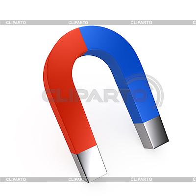 Zweifarbiger Magnet | Illustration mit hoher Auflösung |ID 3091670