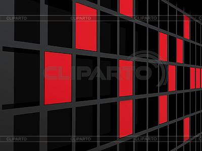 Rotschwarzer karierter Hintergrund | Illustration mit hoher Auflösung |ID 3091937