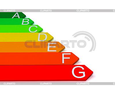 Skala von einem Energieeffizienzindex | Illustration mit hoher Auflösung |ID 3092046