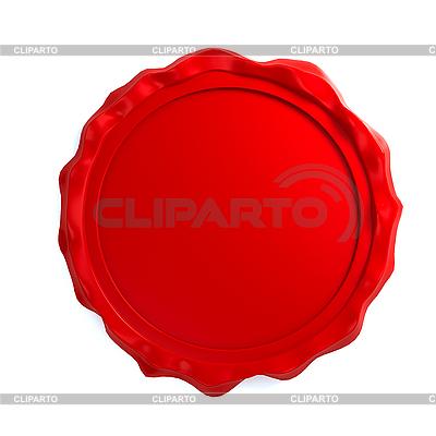 Red wax seal | Stockowa ilustracja wysokiej rozdzielczości |ID 3092056