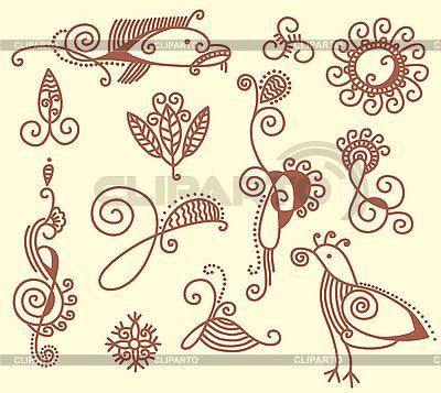Set von floralen Mustern | Stock Vektorgrafik |ID 3093016