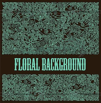 Floraler ornamentaler Hintergrund | Stock Vektorgrafik |ID 3093320