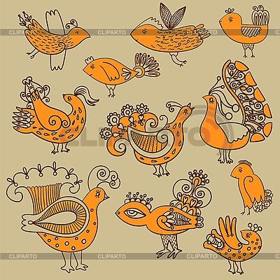 Ornamentale Vögel | Stock Vektorgrafik |ID 3093424