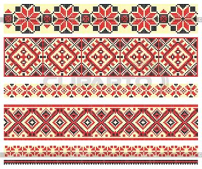 вышивка крестиком - украинские