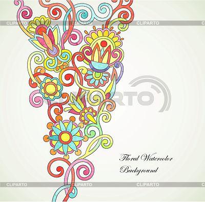 Floral abstrakten Aquarell Hintergrund | Stock Vektorgrafik |ID 3095646