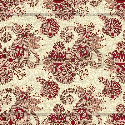 Paisley bez szwu wzór kwiatowy | Klipart wektorowy |ID 3097403