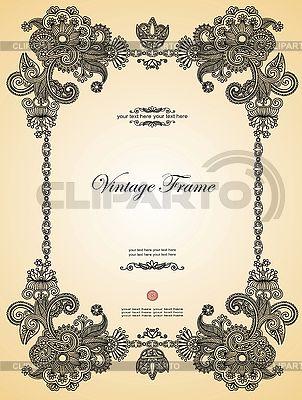 Vintage ozdobne ramki | Klipart wektorowy |ID 3097417