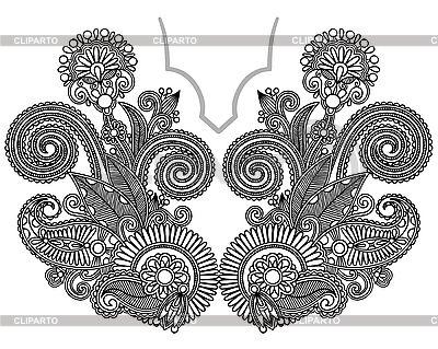Ausschnitt Stickerei Mode | Stock Vektorgrafik |ID 3097443