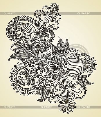 Ukrainisches traditionelles Blumen-Ornament | Stock Vektorgrafik |ID 3098946