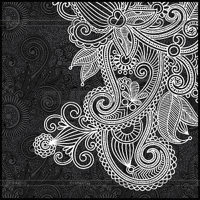 Czarno-biały kwiatowy wzór | Klipart wektorowy |ID 3098980