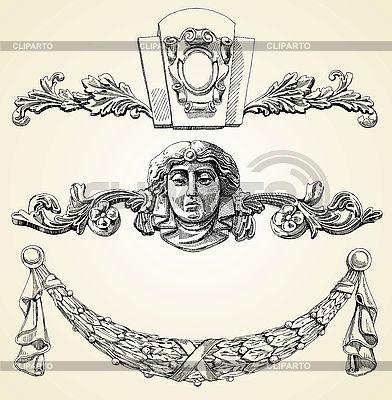 Reliefs des 19. Jahrhunderts | Stock Vektorgrafik |ID 3100187