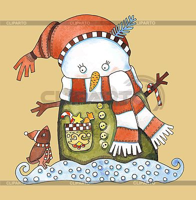 Bałwan Boże Narodzenie | Klipart wektorowy |ID 3101412