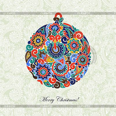 Christmas ball | Klipart wektorowy |ID 3101548