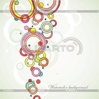 Abstrakter Aquarell-Hintergrund mit Kreisen | Stock Vektorgrafik |ID 3101595