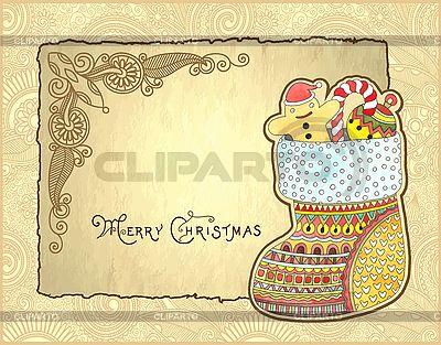 Weihnachtskarte mit Geschenken | Illustration mit hoher Auflösung |ID 3101633