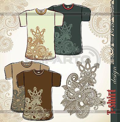 T-shirt projektowania szablonów kwiaty | Klipart wektorowy |ID 3101802
