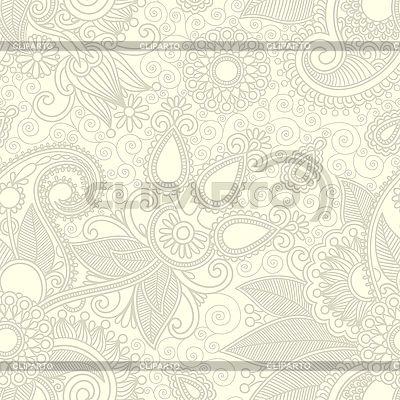 Kwiat bez szwu wzór tła paisley | Klipart wektorowy |ID 3101808