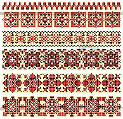 Вышивка крестиком украинский