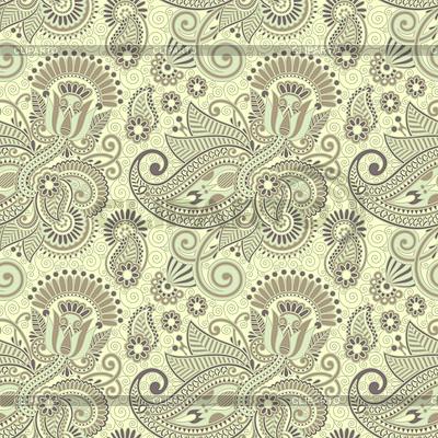 Kwiat bez szwu wzór paisley | Klipart wektorowy |ID 3280418