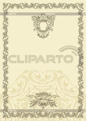 Classical rocznika konstrukcja ramy | Klipart wektorowy |ID 3294492
