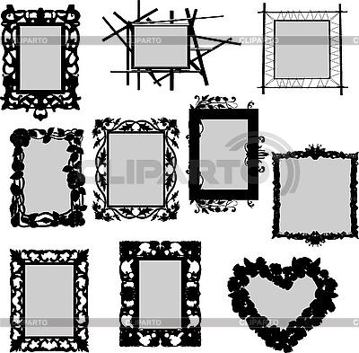 Rahmen-Silhouetten | Stock Vektorgrafik |ID 3094093