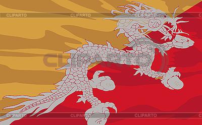Flaga Bhutanu | Klipart wektorowy |ID 3094109