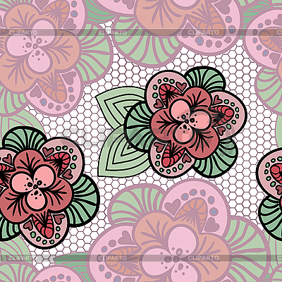 Koronkowy kwiat tle | Klipart wektorowy |ID 3099641