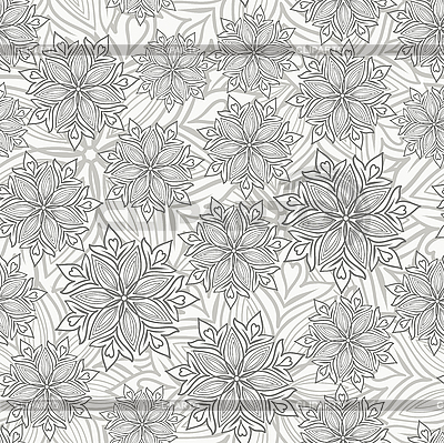 Kwiaty bez szwu | Klipart wektorowy |ID 3099655
