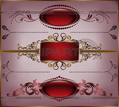 Set von Vintage-Rahmen | Stock Vektorgrafik |ID 3099673