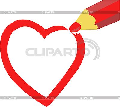 Gezeichnetes Herz | Stock Vektorgrafik |ID 3108522