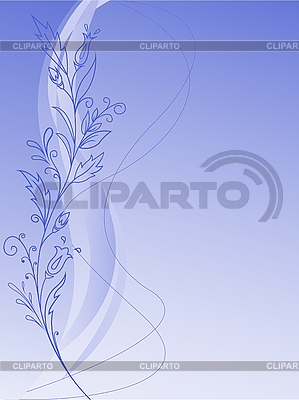 Florales Muster auf blauem Hintergrund | Stock Vektorgrafik |ID 3108790