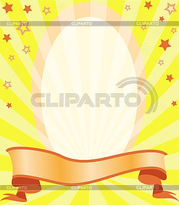 Rama w promieni i gwiazd | Klipart wektorowy |ID 3108803